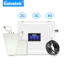 Lintratek LCD Display 2G 3G 4G Tri Band Signal Repeater GSM 900 1800 UMTS 2100 LTE Cell Phone Booster Amplifi.