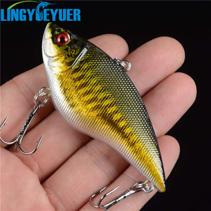 1PCS 16G Hard VIB Lures 7CM Fishing Bait Treble Hooks Sinking Crankbait Fishing Tackle wldslure 1pc 54g minnow sea fishing crankbait bass hard bait tuna lures wobbler trolling lure treble hook