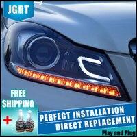 2PCS LED Headlights For Benz W204 2011 2013 Car Led Lights Double Xenon Lens Car Accessories Daytime Running Lights Fog Ligh
