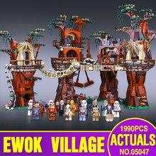 1990 pcs Lepin 05047 Star Wars Ewok Village Construction Blocs Juguete para Construir Briques Jouets Compatible avec Cadeau