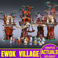 1990pcs Lepin 05047 Star Wars Ewok Village Building Blocks Juguete para Construir Bricks Toys Compatible with  legoe
