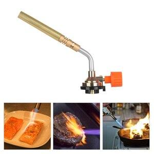 Image 2 - DAYFULI ขายร้อน Flamethrower Burner Butane Gas Blow ไฟฉายมือ IGNITION แคมป์ปิ้ง Welding BBQ เครื่องมือวันหยุดอุปกรณ์เสริมกลางแจ้ง