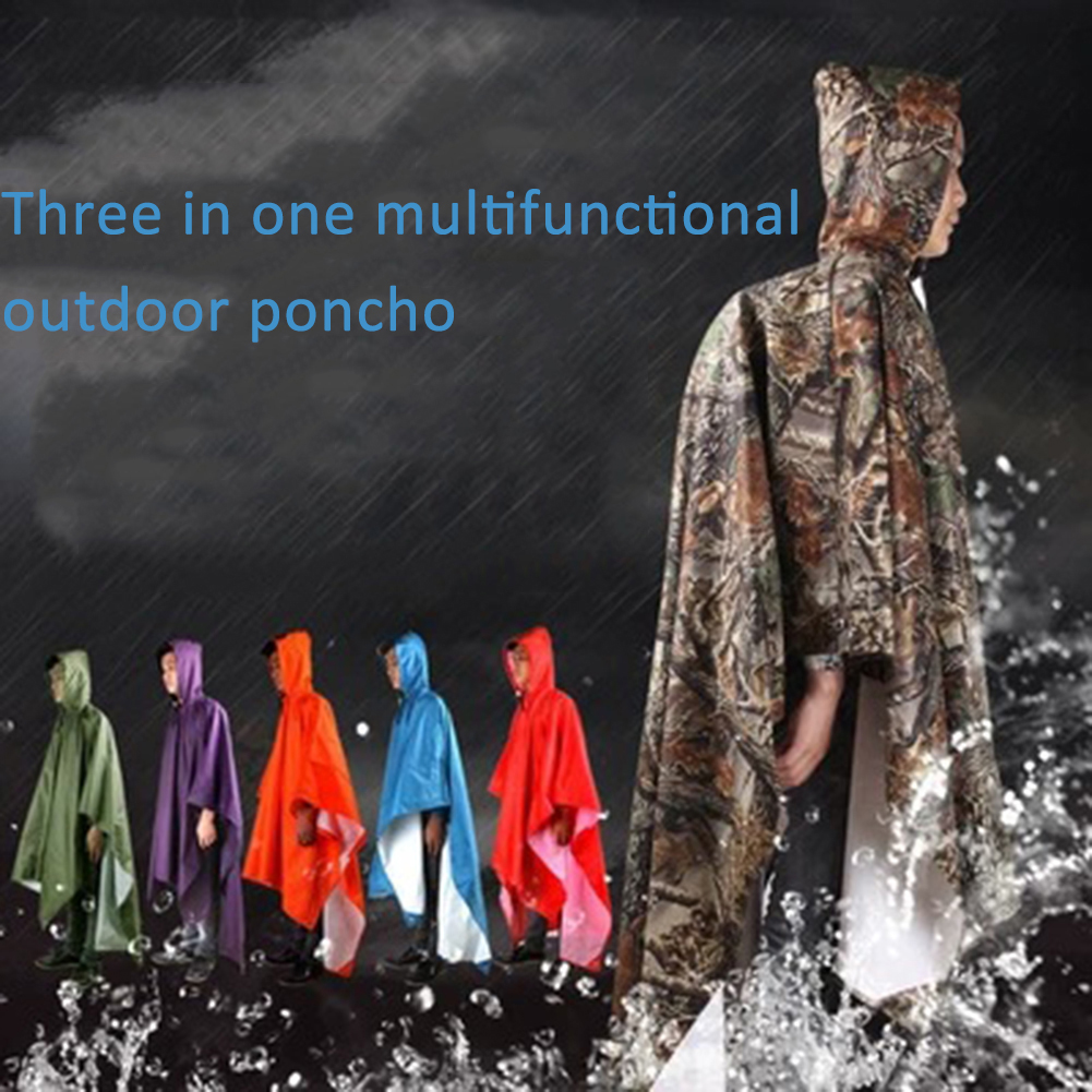 3 In 1 Outdoor Waterproof Backpack Raincoat Tent Beach Mat Sun Protection Canopy Cycling Rainwear Poncho Outdoor Camping Tent