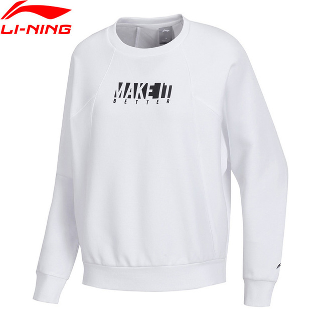 Li-Ning Women Training Series Sweater Comfort Fitness Loose Fit 70% Cotton 30% Polyester LiNing Sports Hoodie AWDP038 WWW1024