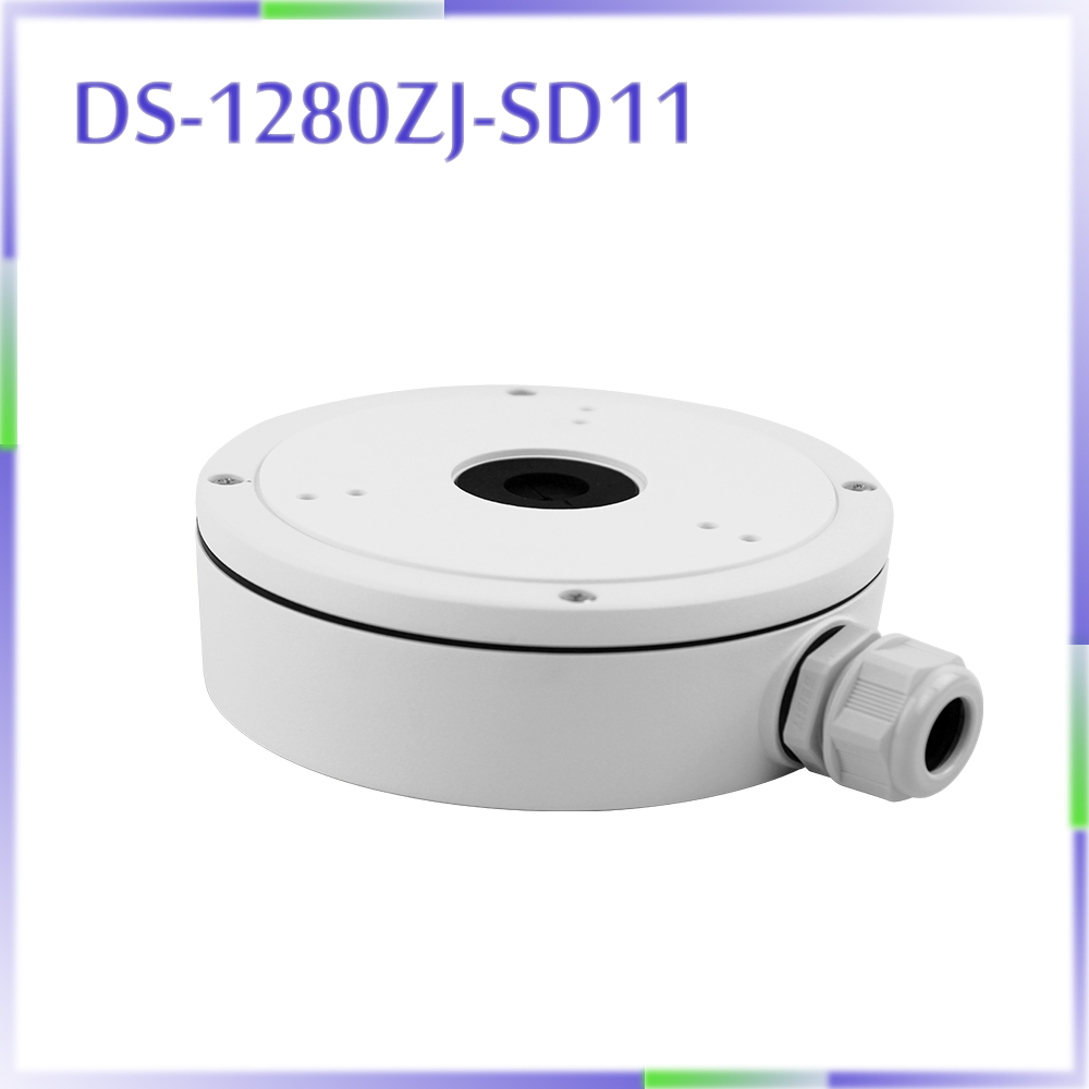 DS-1280ZJ-SD11 junction box for mini PTZ camera DS-2DE4A220IW-DE DS-2DE4A320IW-DE ds 1602zj box pole ptz camera vertical pole mount bracket with junction box