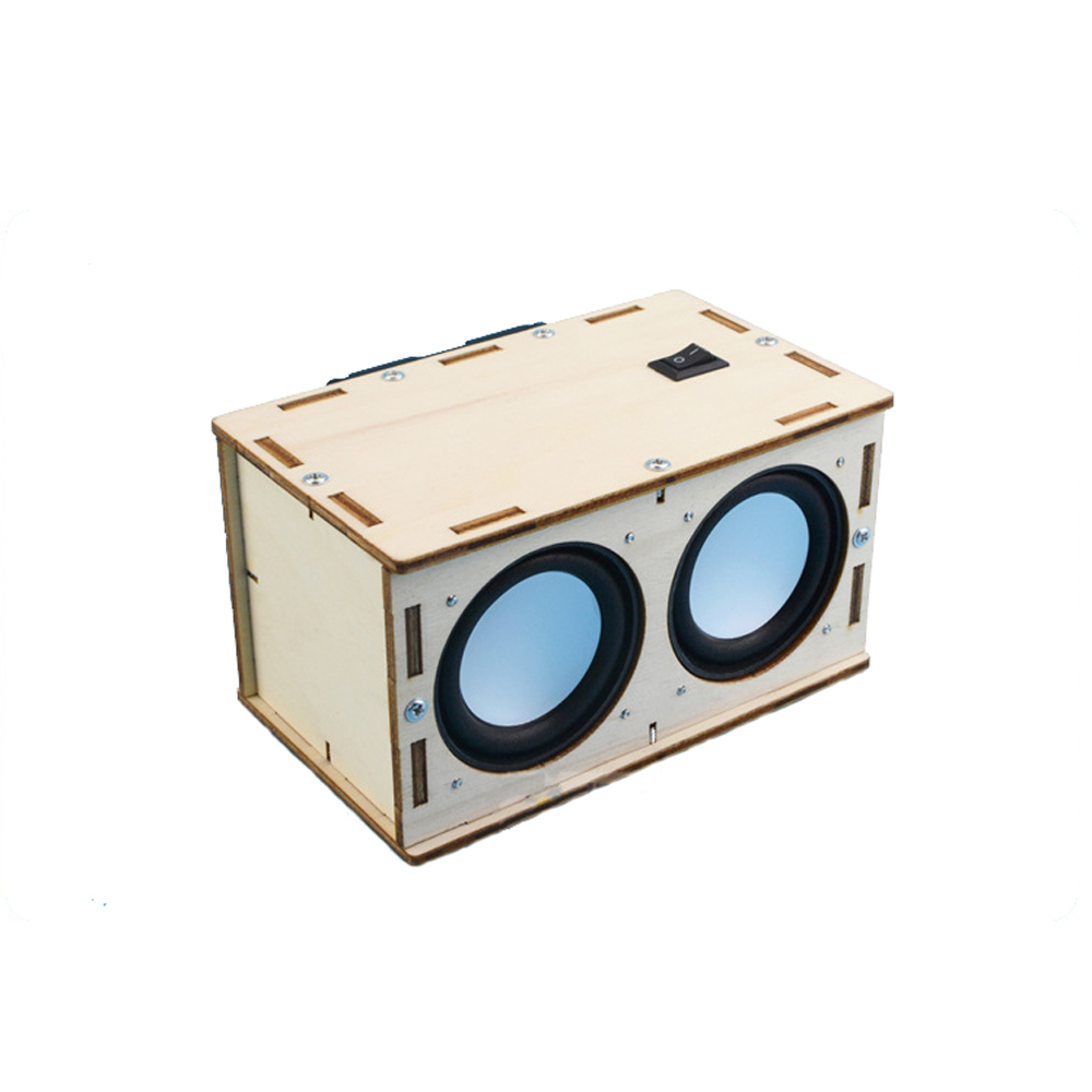 Kids Science Toys Handmade Wood Bluetooth Speaker Material Set DIY Experiment Toys For Children Educational Toy