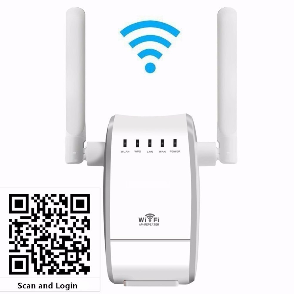 Lot of 100pcs 300Mbps Wireless WIFI Repeater with Dual Antenna Range Extender Booster EU /US/UKPlug