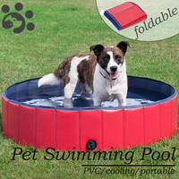 Foldable Pet Pool Swimming Dog Bathing Tub Large Pet Swimming House Durable Portable for Dogs Puppy Kids Outdoor Summer MP0000