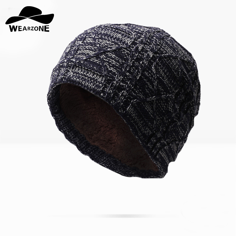 WEARZONE Hot Sales Knitting Hat Winter Hat For Man Skullies Beanies Warm Cap Man Beanie Hat High Quality Headgear Drop Shipping free drop shipping 2017 newest europe hot sales fashion brand gt watch high quality men women gifts silicone sports wristwatch
