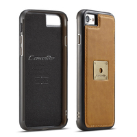 CaseMe Back Cover Case For Apple 7 7 Plus Luxury Leather Magnet With Metal Sheet Back