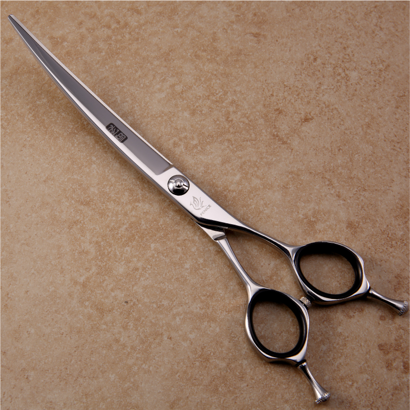 Fenice High end Japan 440C Professional 7.0 inch pet dog animal grooming curved scissors