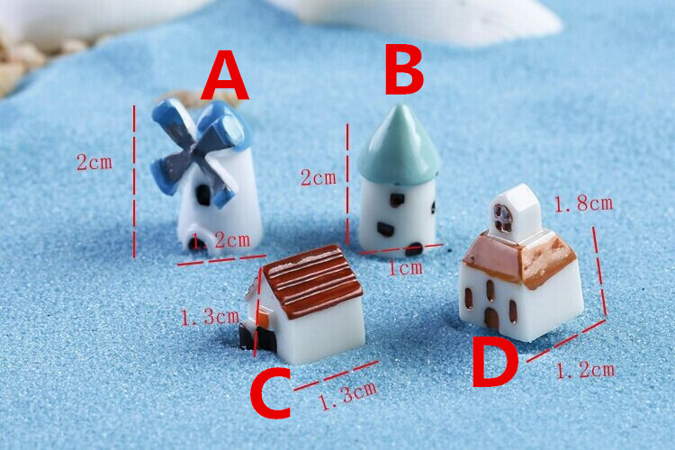 windmill house moss micro landscape ornaments multi meat decoration landscaping creative crafts house castle in figurines miniatures from home garden on