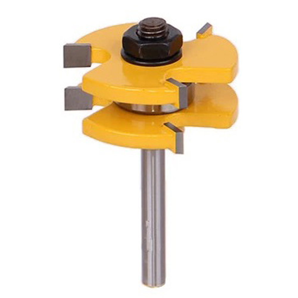 Hot Woodworking Tool 1/4'' x 1/4'' Shank 3 Teeth T Shape Tongue Groove Router Bit Miling Cutter Tool For Wood best price mgehr1212 2 slot cutter external grooving tool holder turning tool no insert hot sale brand new