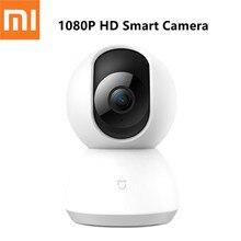 Xiaomi كاميرا Mijia IP مع مهد ، كاميرا ويب مع رؤية ليلية 1080 درجة ، 360 بكسل ، HD ، للمنزل الذكي ، الإصدار الرئيسي