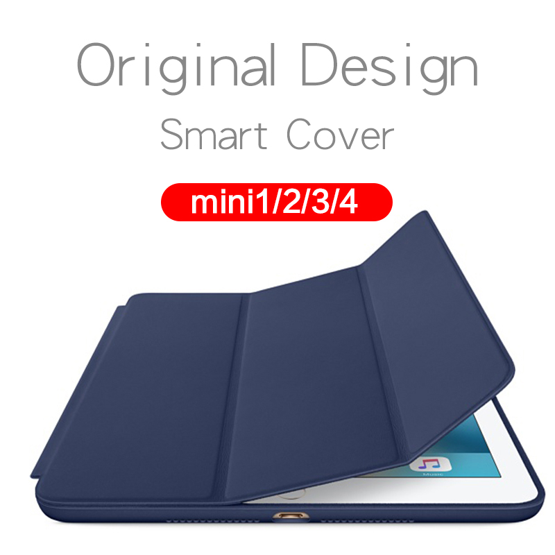 Luxury Ultra Slim Stand Smart Cover PU Leather Case for Apple iPad Mini 2 3 4 With Auto Sleep/Wake Magnetic Flip Cases 4 shapes ultra thin silk smart pu leather cover stand for apple ipad air 2 translucent case for ipad 6 auto wake sleep x