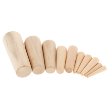 10 Pcs/7 Sizes Wooden Plugs Boat Marine Plug Emergency Plug Up Hole Wood Safety Gear Hole Filler Durable