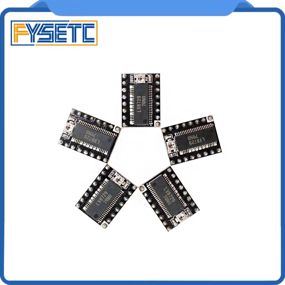 5pcs/lot 3D Printer Parts LV8729 Stepper Motor Driver 4-layer PCB Ultra Quiet Driver Module Compatible With Lerdge