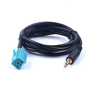 Cars 3.5mm AUX CD Stereo Audio Line Input Cable For Renault Clio Megane 2005 2006