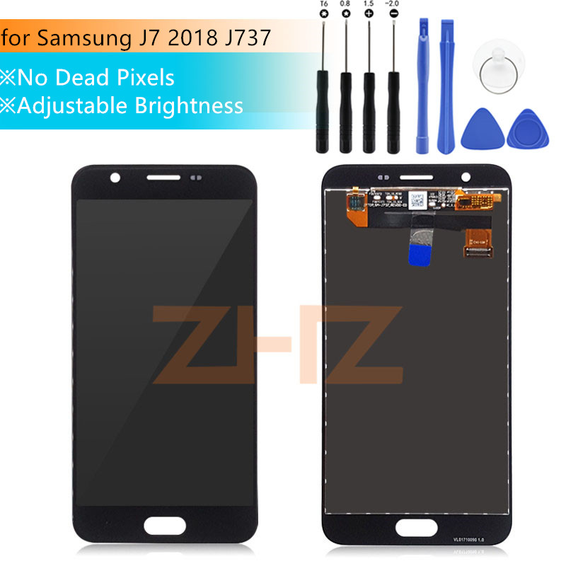 US $16 48 33% OFF|for Samsung Galaxy J7 2018 J737 LCD Display Touch Screen  Digitizer for Samsung Galaxy J737P LTE A LCD Display Repair Spare Parts-in