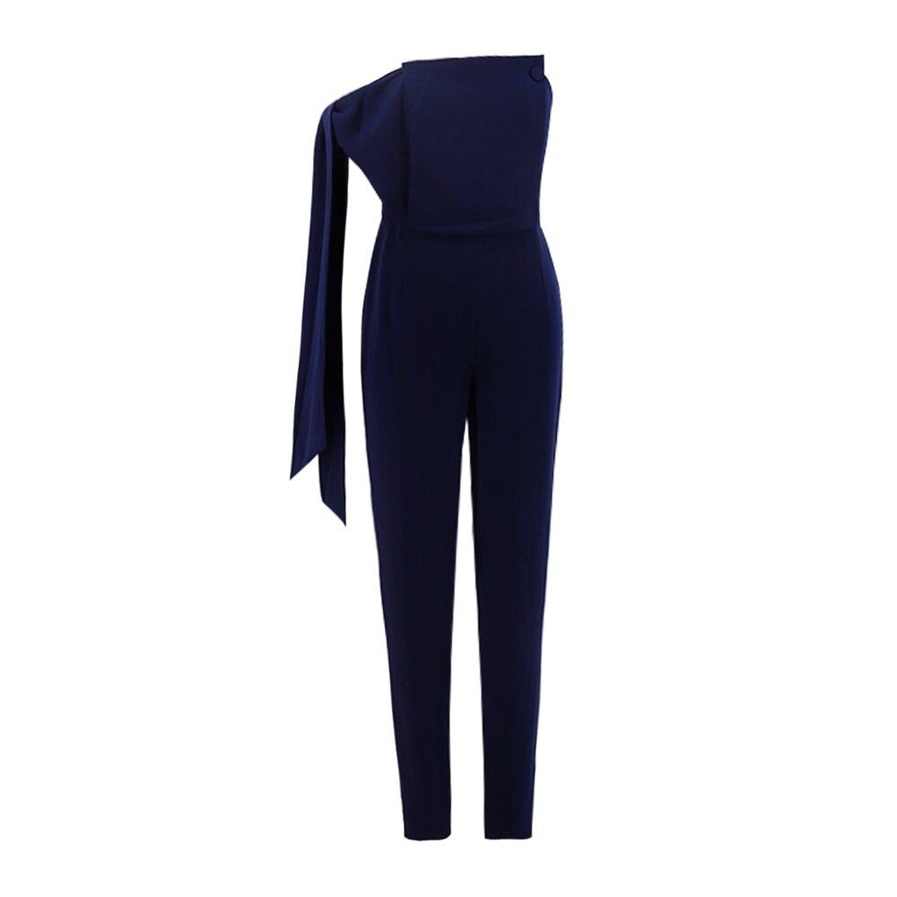 Dark Dell'impero Lace Spalline Blue Blu Up Senza Bodycon Vita Tute Luxury Tuta Scuro Moda qRx767nz