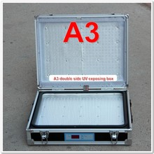 Double Side UV Exposure Box Machine A3 Size for Plate Making LED Bulbs New Model
