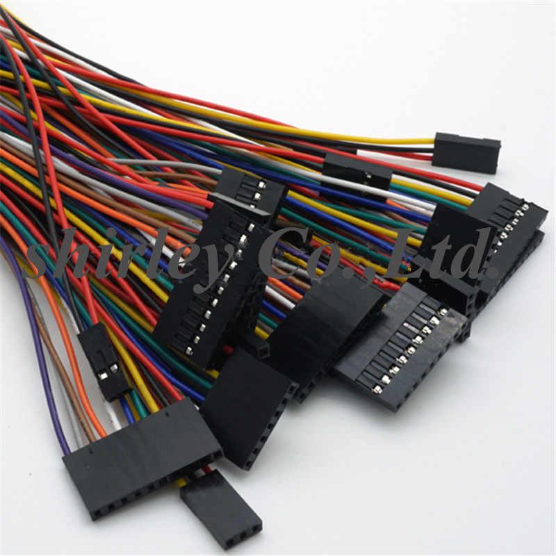 Dupont ligne 20cm2. 54mm femelle à femelle 2 P/3 P/4 P/5 P/6 P/7 P/8 P/9 P/10 P/12 P couleur platine de prototypage câble saut fil Jumper pour kit de bricolage