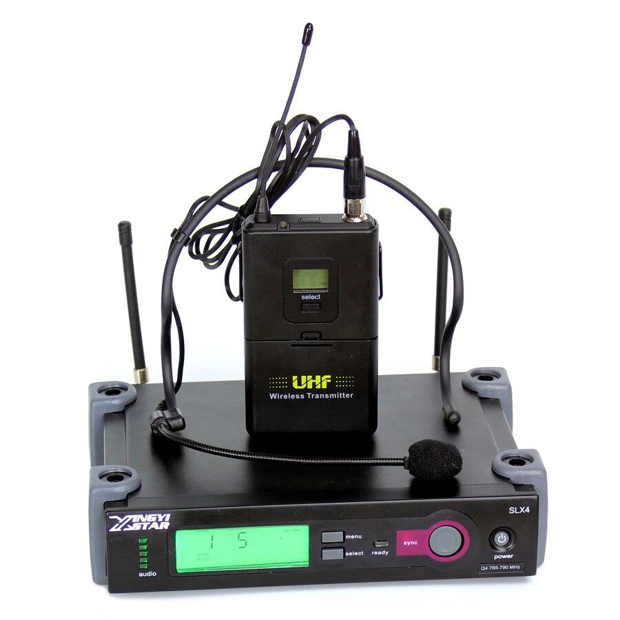 Профессиональный микрофон гарнитуры Беспроводной приемник оголовье микрофон для SLX24 петь караоке Системы аудио DJ микшер поясной передатчи
