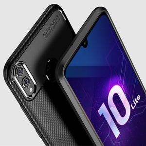Image 2 - For Honor 10 lite Case Carbon Fiber Cover 360 Shockproof Silicon Phone Case on for Huawei P Smart 2019/Honor10 Lite Cover Bumper
