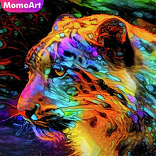 MomoArt Diamond Embroidery Full Drill Square/round Animal Picture Of Rhinestones Painting Tiger Home Decor