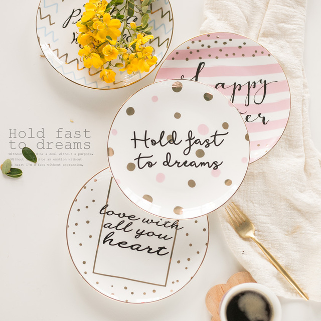Creative tableware suit lovely round valentines gift plate zakka mini fast food tray sauce dish salad  sc 1 st  AliExpress.com & Creative tableware suit lovely round valentines gift plate zakka ...