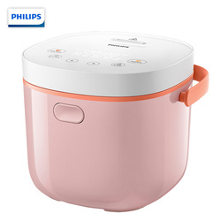 Electric Rice Cooker 2L Mini Predatable Touch Control Can Make Yoghurt HD3070/00 Pink