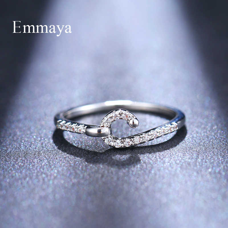 Emmaya Mới Thiết Kế Móc Xuất Hiện LỜI HỨA Cưới cô dâu Bé Gái Cubic Zircon, Nhẫn Tinh Tế Lựa Chọn