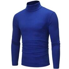 T-shirt Mens Slim Casual Long Sleeve T-Shirt Large Size S-XXXL Spring  Turtleneck Solid Color casualT-Shirt