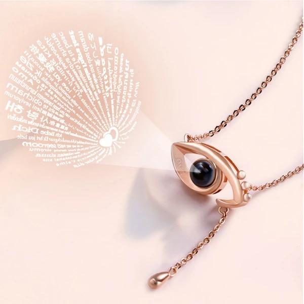 LOVER\u2019S EYE Design Pendant Necklace