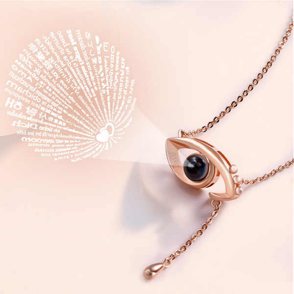 2f3d1290e3 Detail Feedback Questions about AILIN New Design Light Projection Angel Eye  Necklace Inscribed with