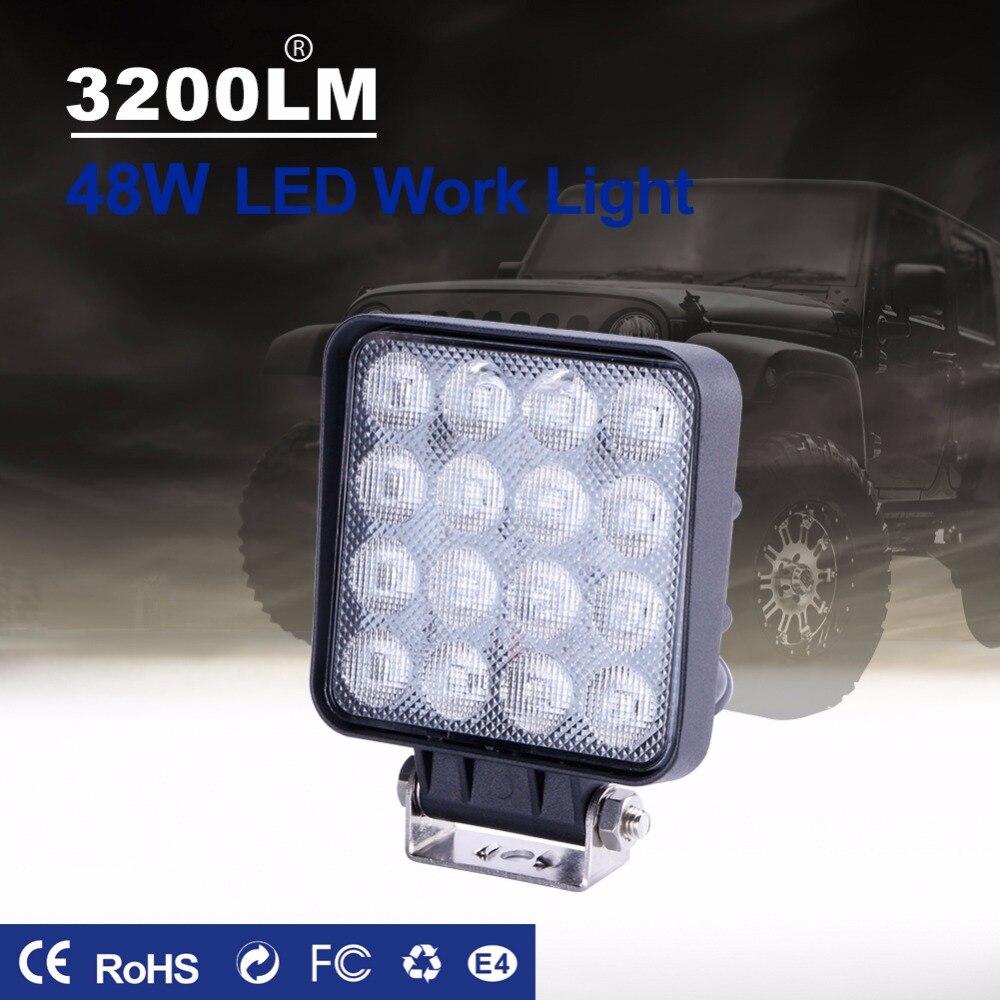 TC-X LED 48W İş İşıq Meydanı LED Daşqın İşıq Bar 4x4 - Avtomobil işıqları - Fotoqrafiya 4