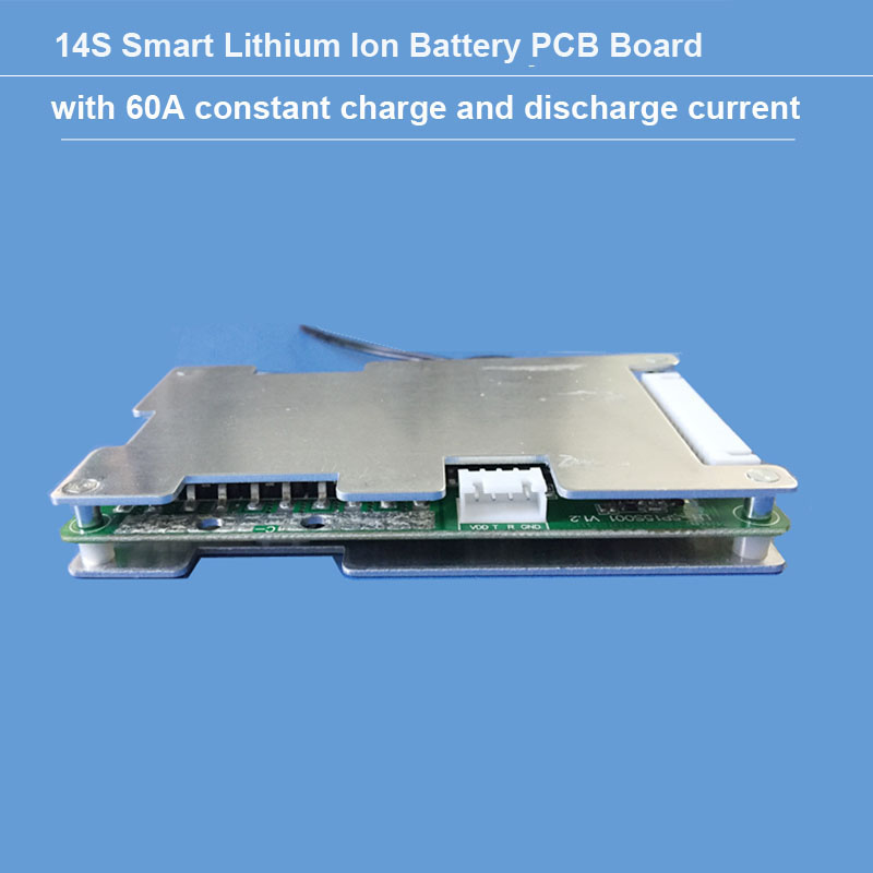 58 8V 14S Lithium Ion Battery PCB and bluetooth software BMS with 60A constant charge and