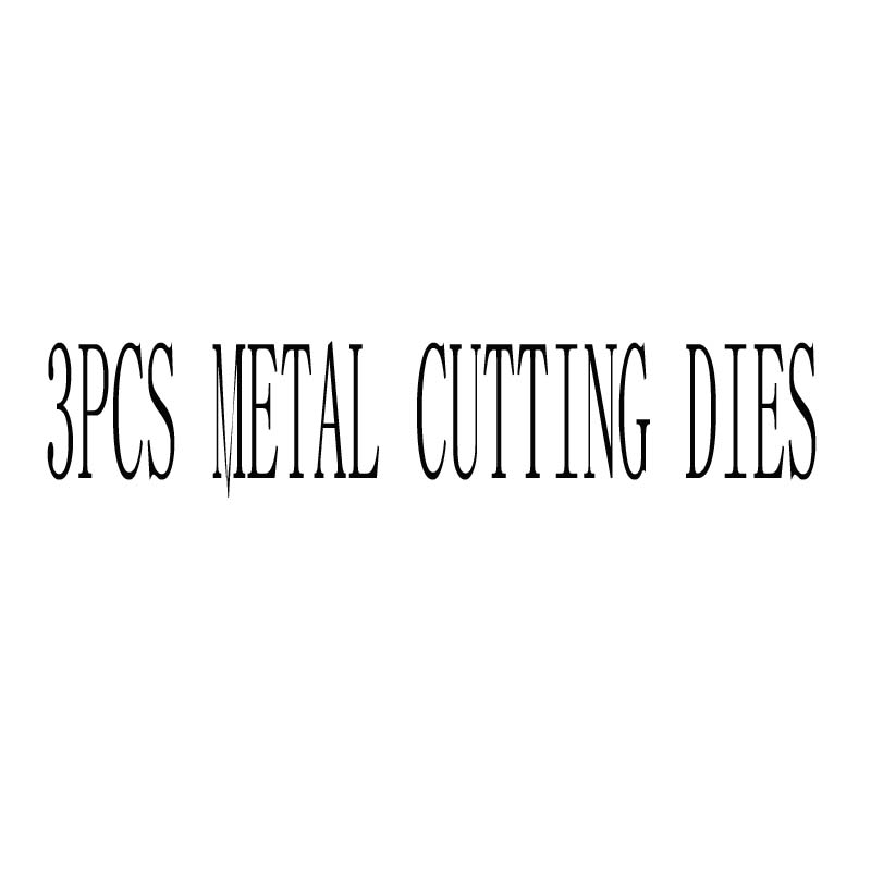 3 piezas de corte de Metal muere 3D DIY Scrapbooking de punto de morir foto tarjetas de invitación decoración de corte muere Nuevo 2018 papel