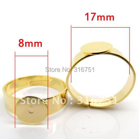 Hot Sale  Hot Sale Cabochons  Chain free Shipping 20pcs Adjustable Gp Ring Base Blank Glue-on18.3mm (us 8)(w00004 X 1) AA