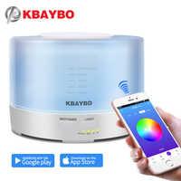 KBAYBO 500 ml รีโมทคอนโทรล Aroma Diffuser กับ APP Air Humidifier 7 สีไฟ led น้ำมันหอมระเหย cool mist maker