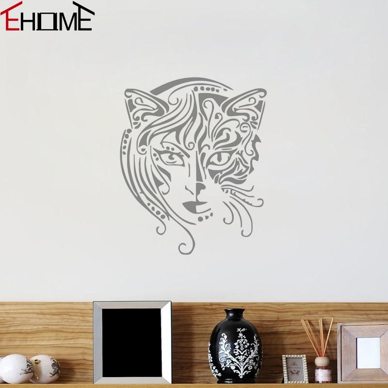 Ehome new design cat women wall decals vinyl art mural for Bathroom wall decor vinyl