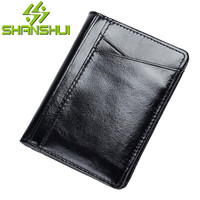 2017 New Brand Men S PU Leather Credit Card Holder Casual Driving License Holster Gentleman Wallet
