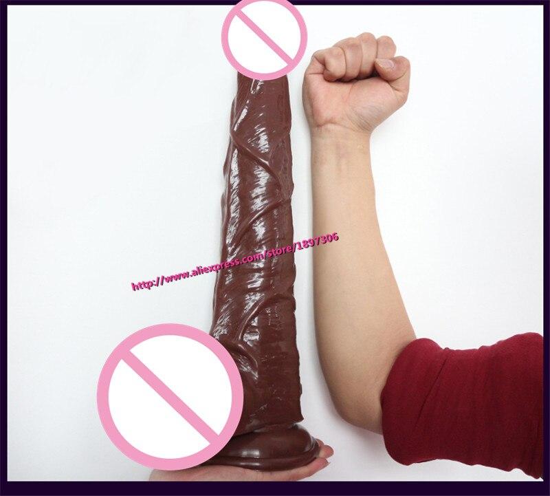 2016 New 42cm Sturdy Suction Cup Big Penis Realistic Large Silicone Super Large Huge Dildos Big super safari 2 big book