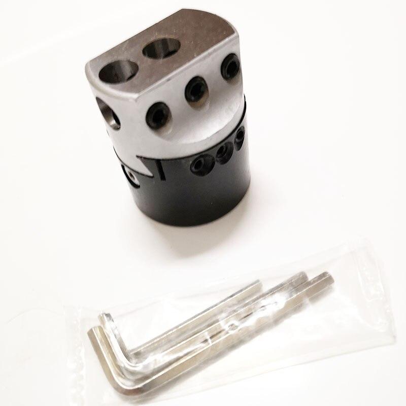 "Купить с кэшбэком 1set straight shank 25mm adapter M12 C25 F1 12 50mm (2"") boring head for CNC machine boring  Mini graduation: 0.01"