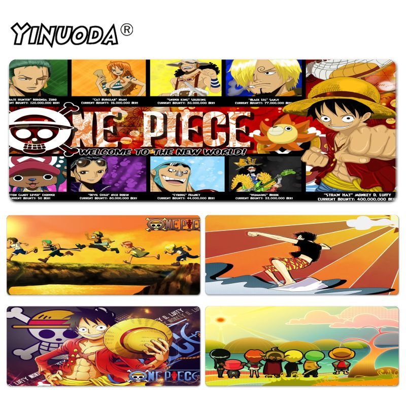 Yinuoda Cartoon One Piece mouse pad gamer play mats Size for 40x90CM Speed Version Gaming Mousepads