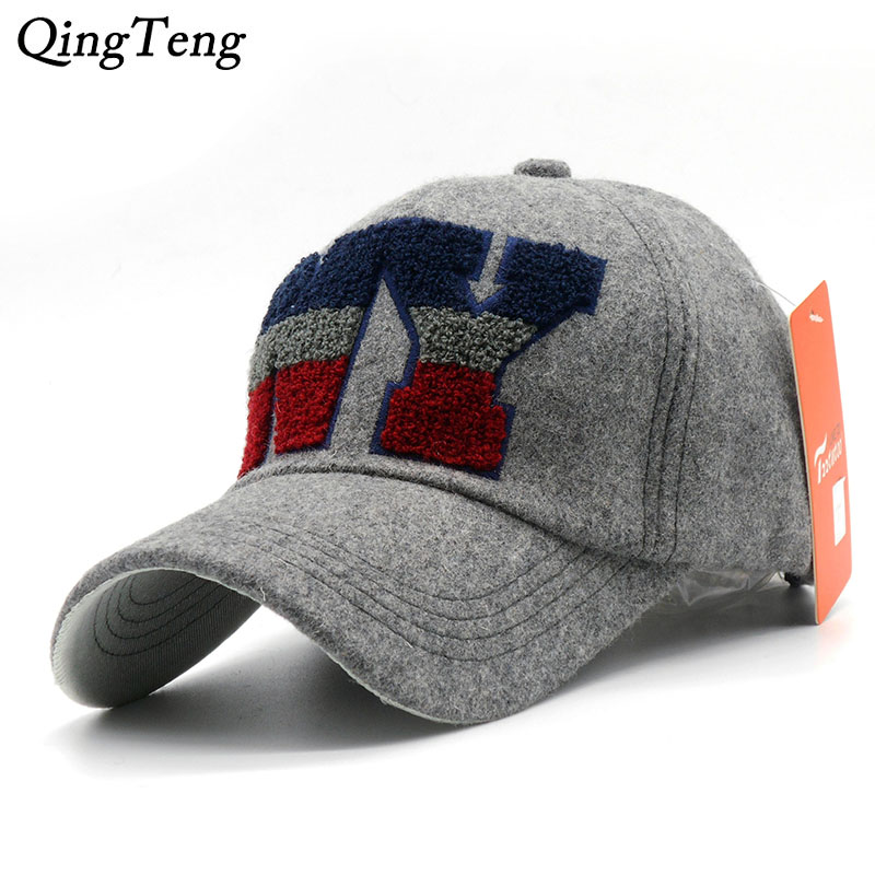 High Quality 2019 New Woolen Ny Cap Letter NEW YORK Gorras Hip Hop Men Women NY Baseball Cap Casual Adjustable Hats image
