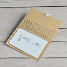 Factory Price Custom High-End Printing Clothing hang tags Special Card Paper Tags