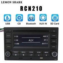 LEMON SHARKรถวิทยุRCN210 CDเครื่องเล่นบลูทูธUSB MP3 AUX 9N 31G 035 185สำหรับVW Golf Jetta MK4 Passat B5 Polo RCN 210