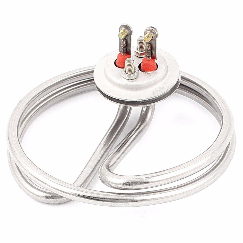 UXCELL AC 220 V 3KW A Spirale Elettrico Acqua Caldaia Elemento Riscaldante Riscaldatore Tono Argento di Alta Qualità