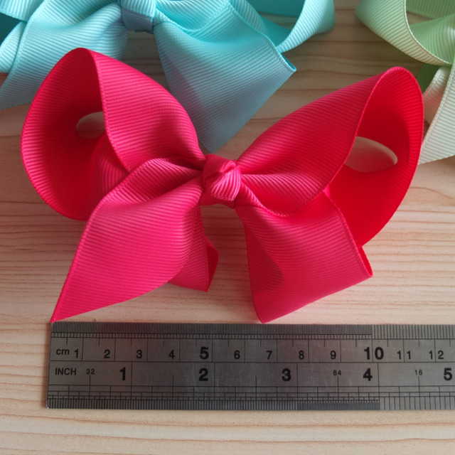 4 inches hair bow WITHOUT clips NO CLIPS  hair bow supplier DIY for headbands Boutique hair accessories 40 Colors Available